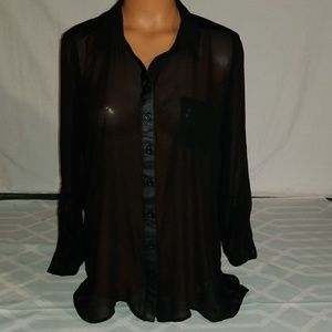 Maurices Sheer Shirt/Top size Large